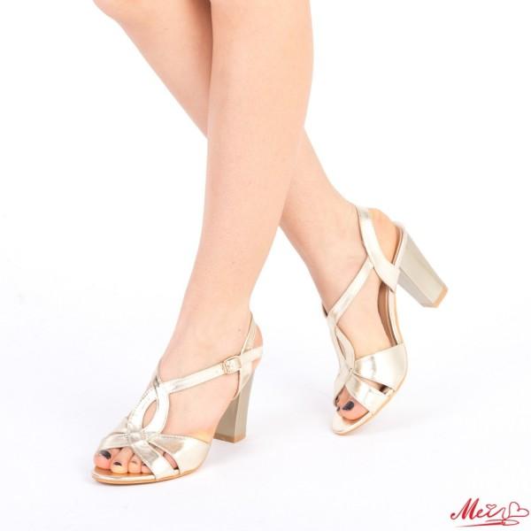 Sandale Dama cu Toc QZL157 Gold Mei