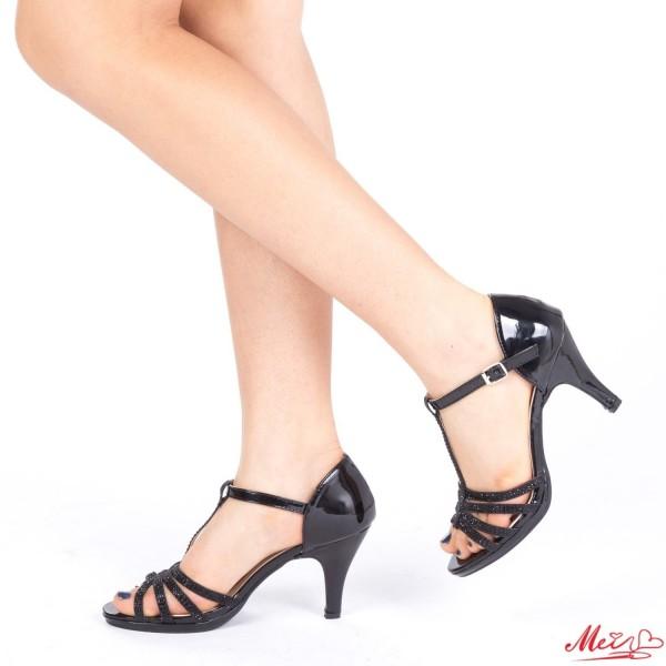 Sandale Dama cu Toc QZL160 Black Mei
