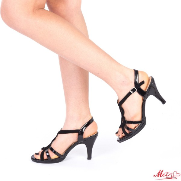 Sandale Dama cu Toc QZL161 Black Mei
