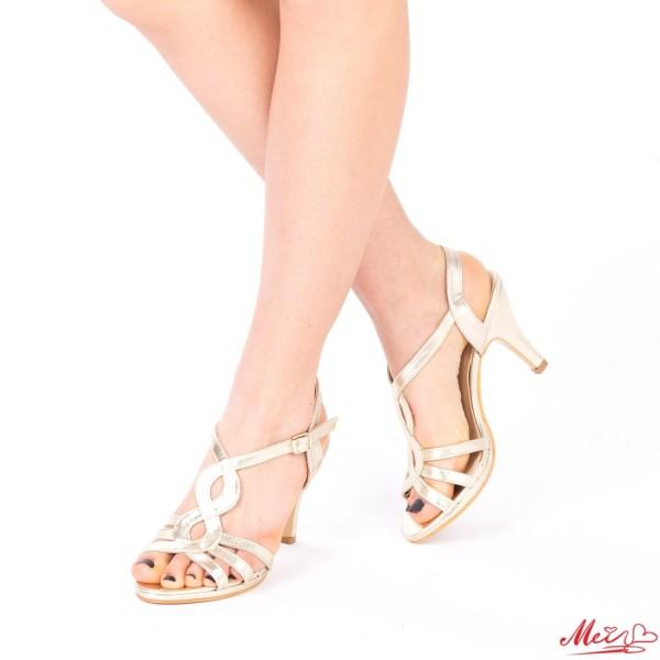 Sandale Dama cu Toc QZL161 Gold Mei