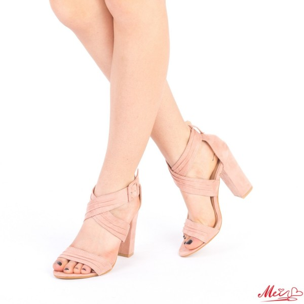 Sandale Dama cu Toc QZL162 Pink Mei