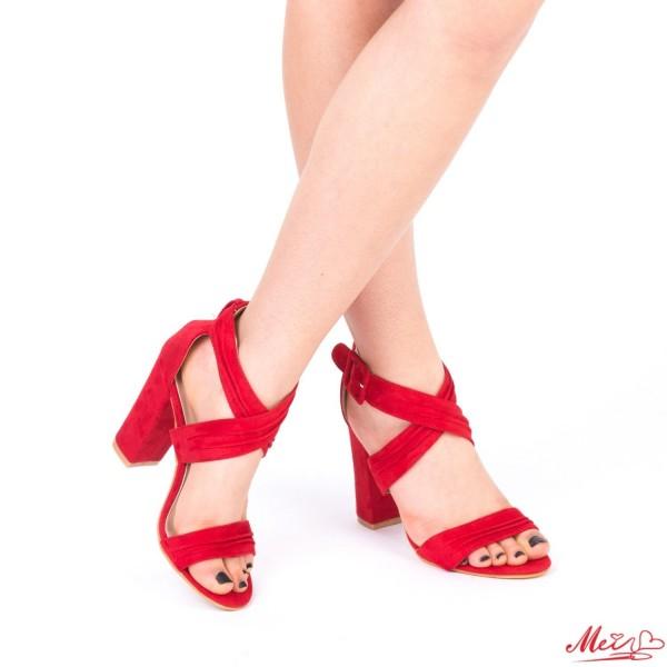 Sandale Dama cu Toc QZL162 Red Mei
