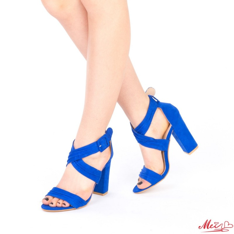 Sandale Dama cu Toc QZL162 Blue Mei