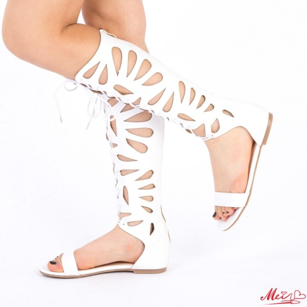 Sandale Dama QZL166 White Mei