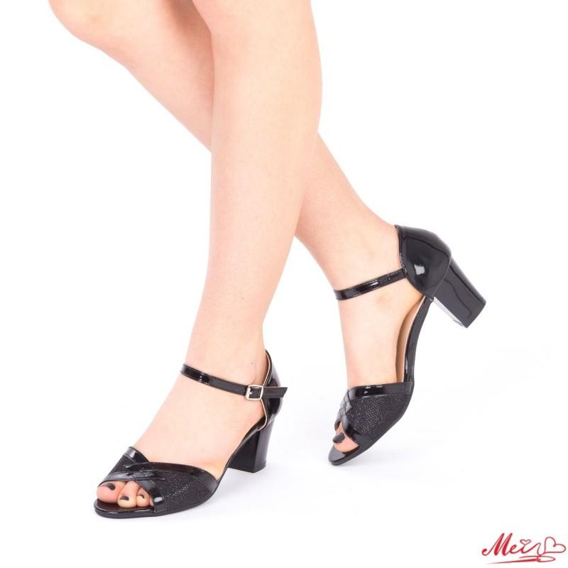 Sandale Dama cu Toc QZL176 Black Mei