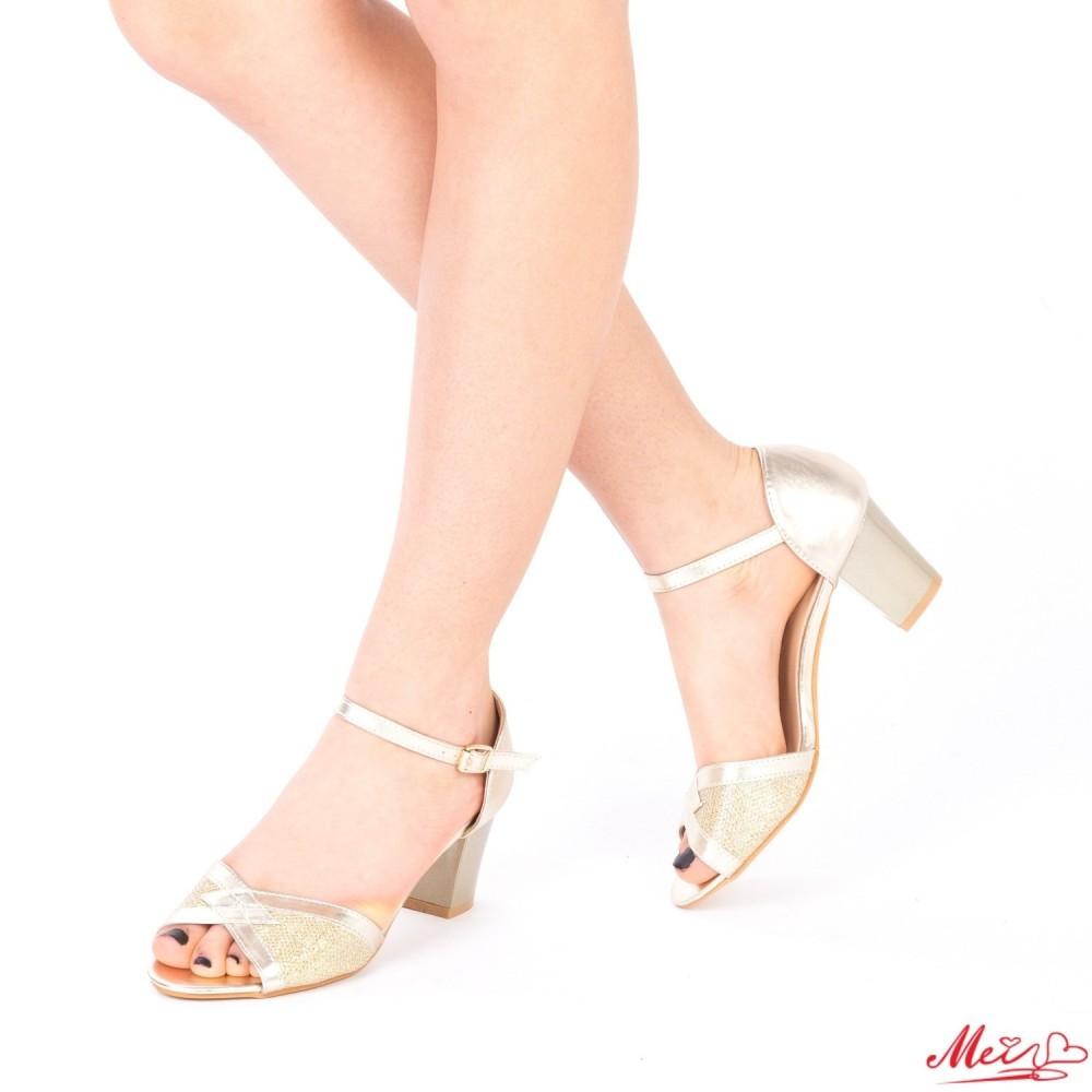 Sandale Dama cu Toc QZL176 Gold Mei