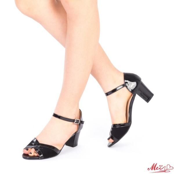Sandale Dama cu Toc QZL176A Black Mei