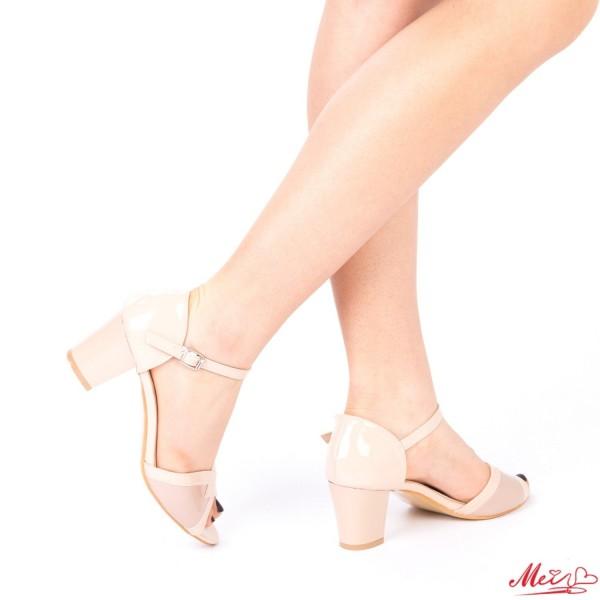Sandale Dama cu Toc QZL176A Beige Mei