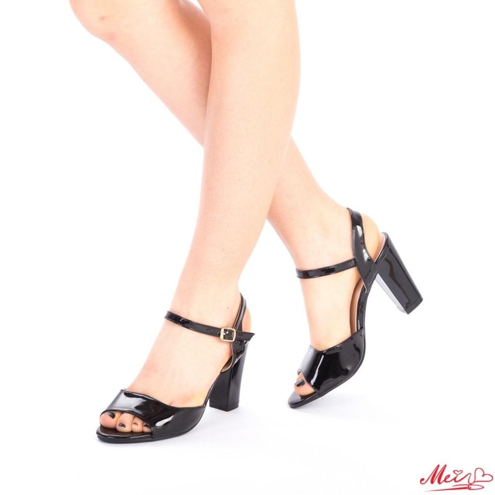 Sandale Dama cu Toc QZL36 Black Mei