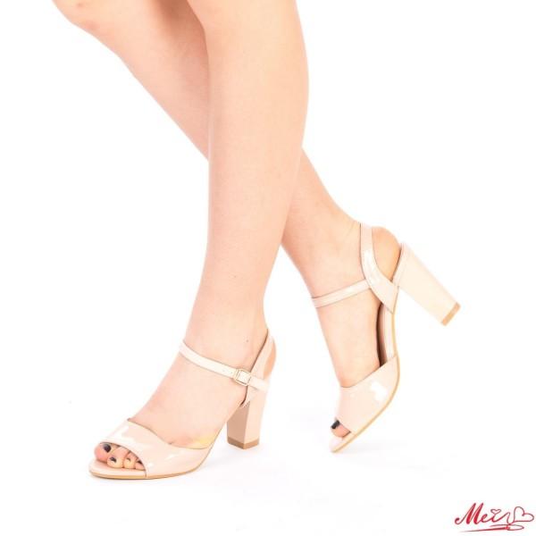 Sandale Dama cu Toc QZL36 Nude Mei