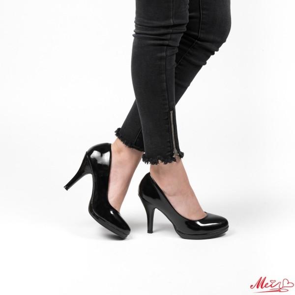 Pantofi cu Toc QZL65 Black Mei