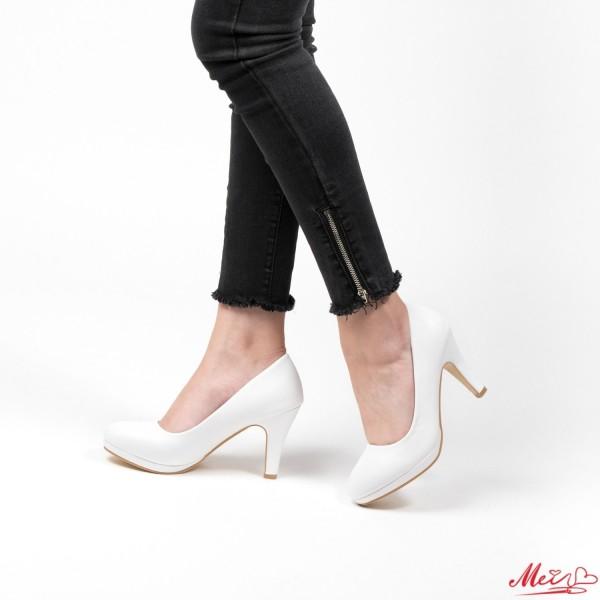 Pantofi cu Toc QZL65D White Mei