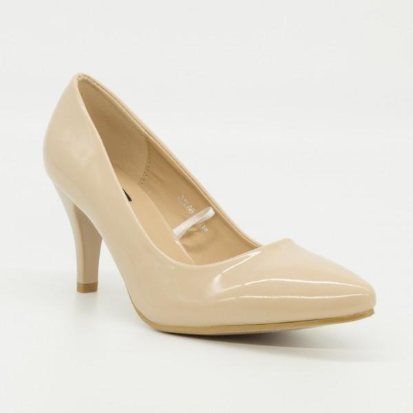 Pantofi cu Toc QZL66 Nude Mei