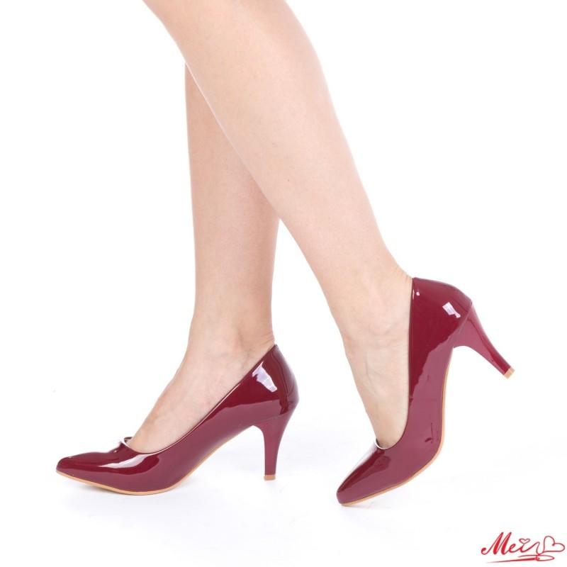 Pantofi cu Toc QZL66 Winered Mei