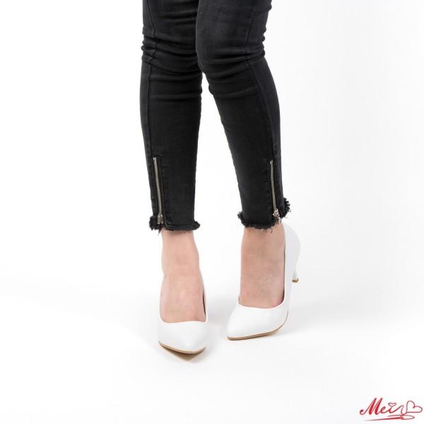 Pantofi cu Toc QZL67D White Mei