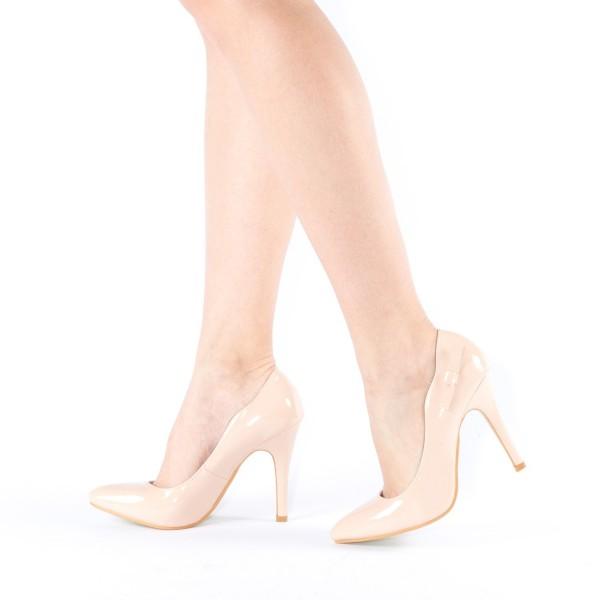 Pantofi cu Toc QZL70 Nude Mei