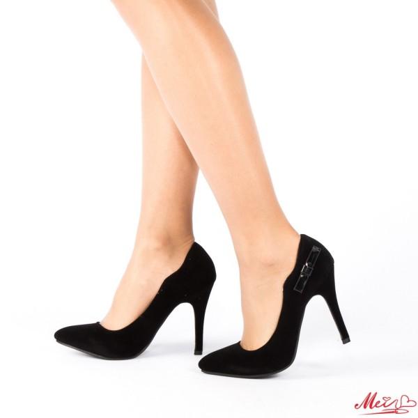 Pantofi cu Toc QZL70A Black Mei