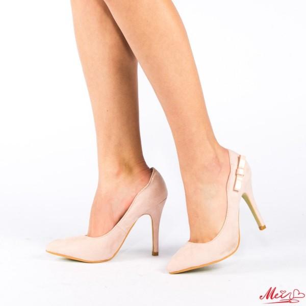 Pantofi cu Toc QZL70A Pink Mei
