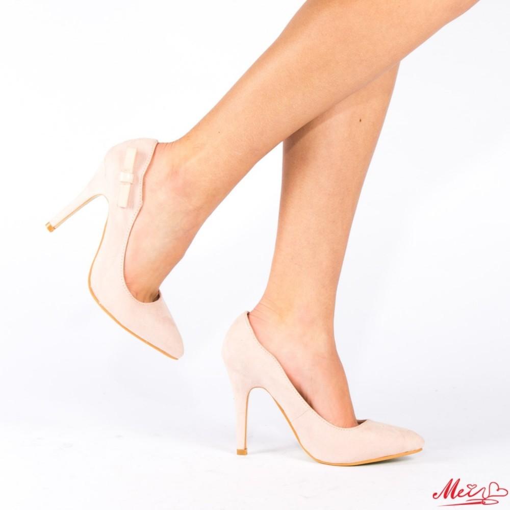 Pantofi cu Toc QZL70A Beige Mei