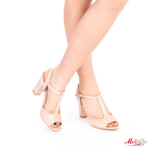Sandale Dama cu Toc QZL80 Nude Mei