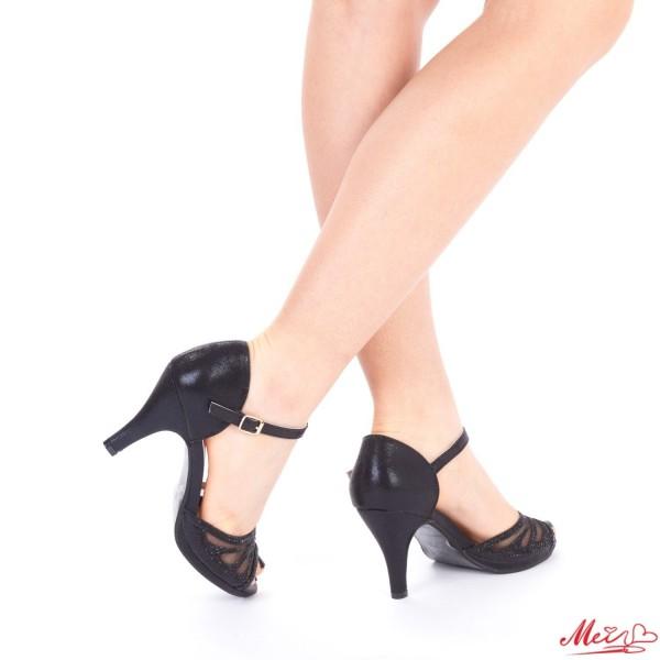 Sandale Dama cu Toc QZL97 Black Mei