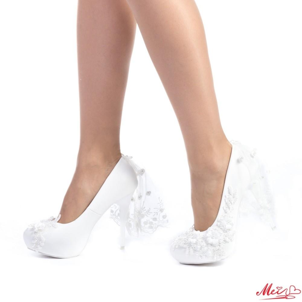 Pantofi cu Toc S9 White Mei