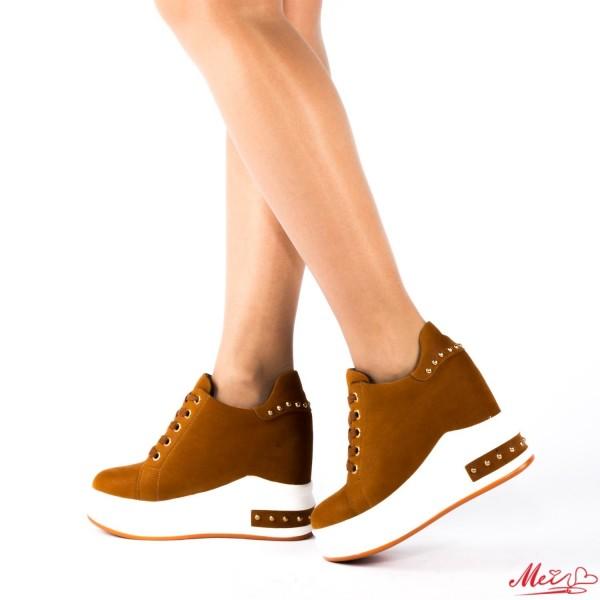 Pantofi Sport Dama cu Platforma SJN117 Yellow Mei