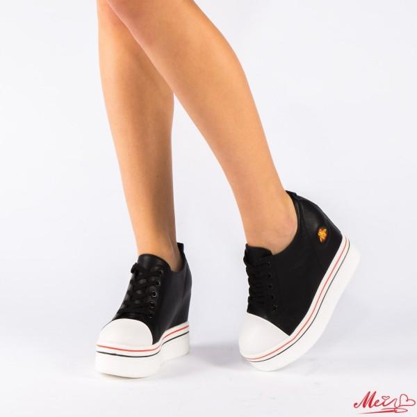 Pantofi Sport Dama cu Platforma SJN118 Black Mei