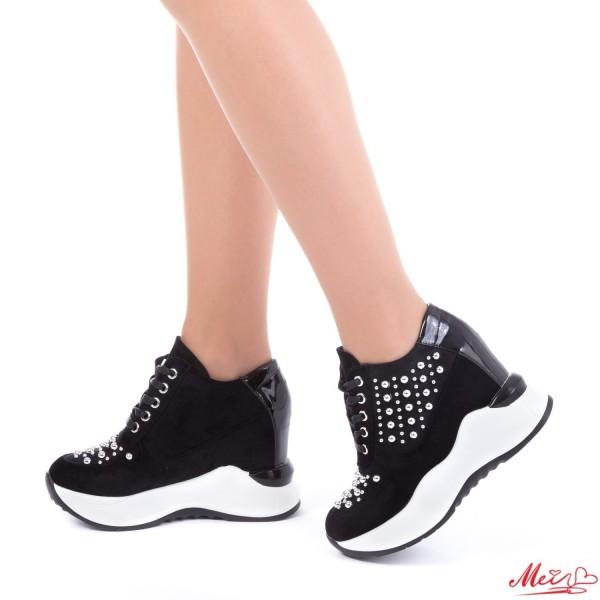 Pantofi Sport Dama cu Platforma SJN121 Black Mei