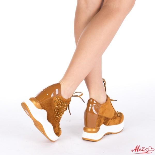 Pantofi Sport Dama cu Platforma SJN121 Camel Mei
