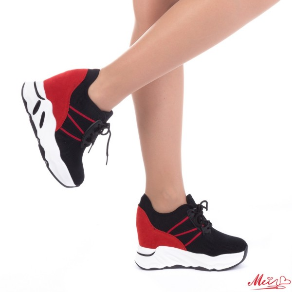 Pantofi Sport Dama cu Platforma SJN123 Black Mei