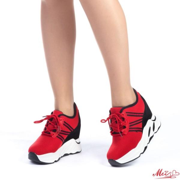 Pantofi Sport Dama cu Platforma SJN123 Red Mei