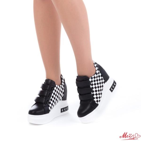 Pantofi Sport Dama cu Platforma SJN125 Black Mei