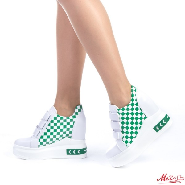 Pantofi Sport Dama cu Platforma SJN125 Green Mei