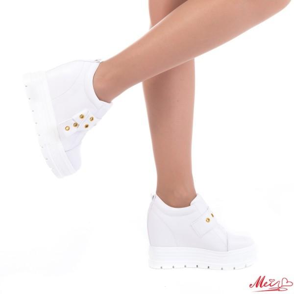 Pantofi Sport Dama cu Platforma SJN126 White Mei