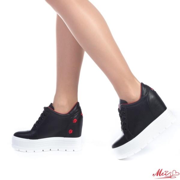 Pantofi Sport Dama cu Platforma SJN127 Black Mei
