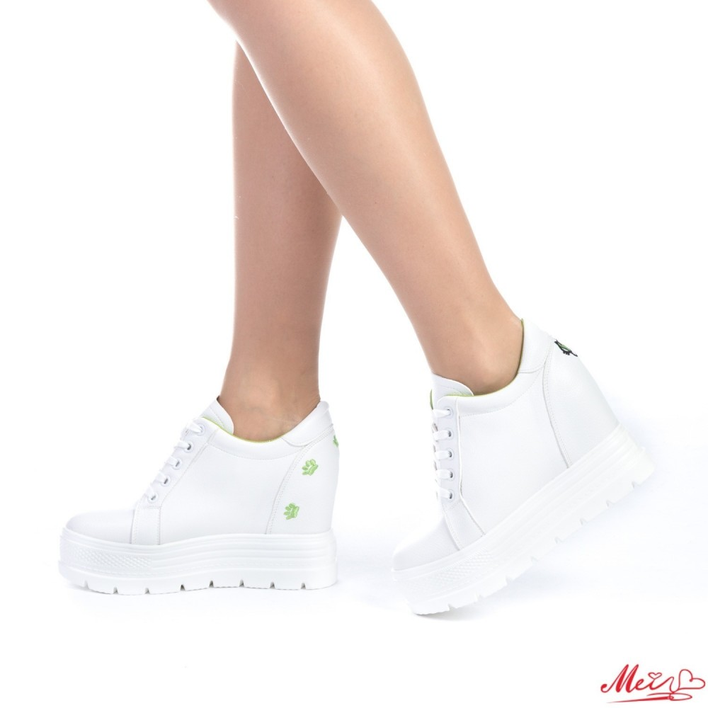 Pantofi Sport Dama cu Platforma SJN127 Green Mei