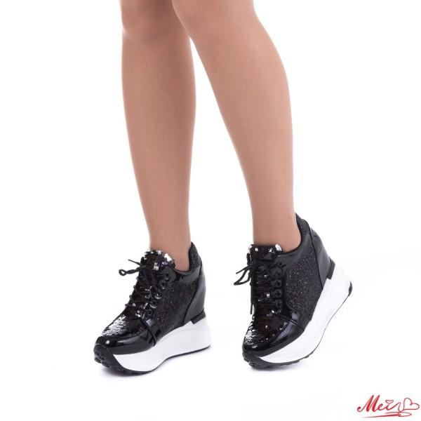Pantofi Sport Dama cu Platforma SJN129 Black Mei