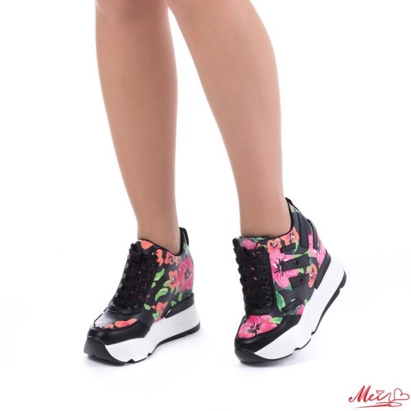 Pantofi Sport Dama cu Platforma SJN131 Black Mei
