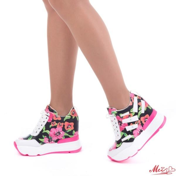 Pantofi Sport Dama cu Platforma SJN131 Pink Mei