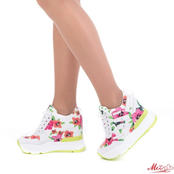 Pantofi Sport Dama cu Platforma SJN131 Green Mei
