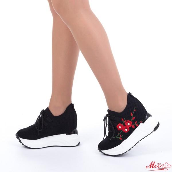 Pantofi Sport Dama cu Platforma SJN132 Black Mei