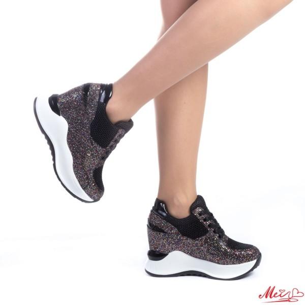Pantofi Sport Dama cu Platforma SJN135 Black Mei