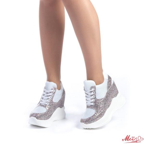 Pantofi Sport Dama cu Platforma SJN135 Silver Mei