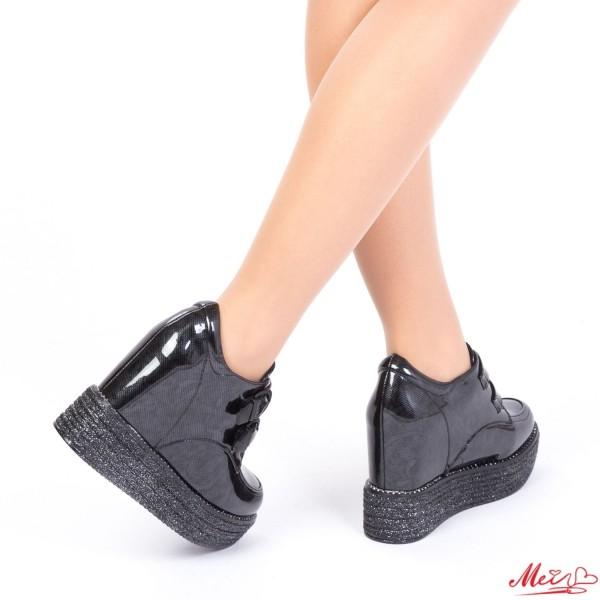 Pantofi Sport Dama cu Platforma SJN136 Black Mei