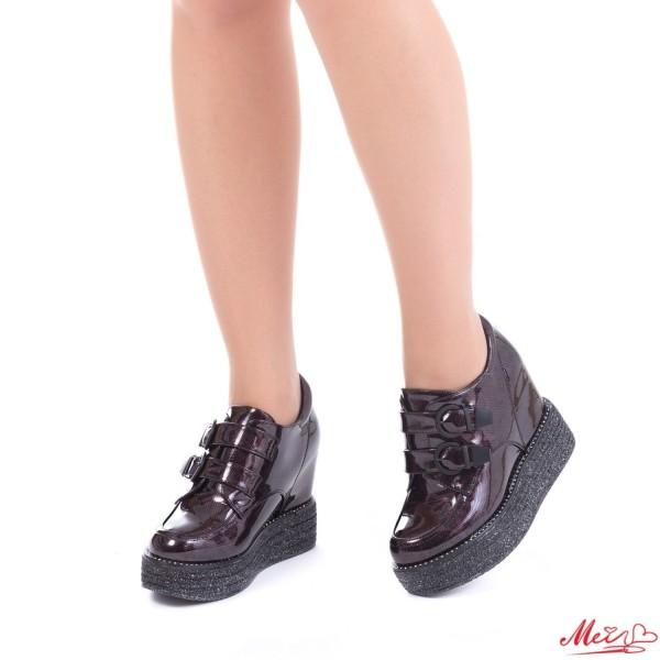 Pantofi Sport Dama cu Platforma SJN136 Winered Mei