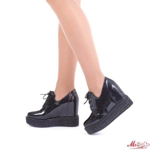 Pantofi Sport Dama cu Platforma SJN137 Black Mei