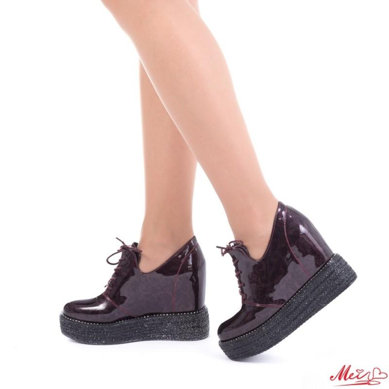 Pantofi Sport Dama cu Platforma SJN137 Winered Mei
