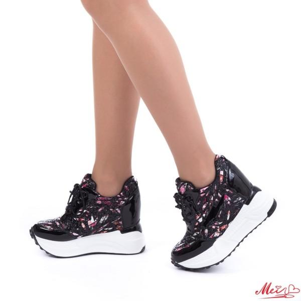 Pantofi Sport Dama cu Platforma SJN139 Black Mei