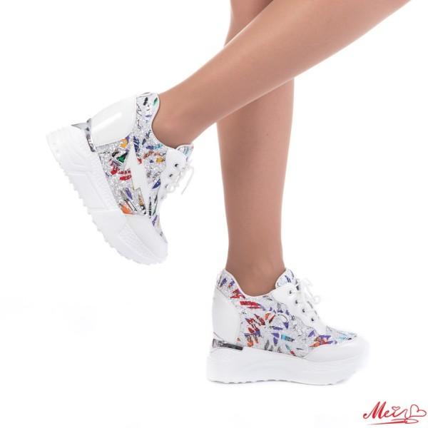 Pantofi Sport Dama cu Platforma SJN139 White Mei